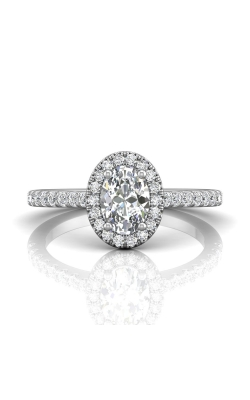 Martin Flyer Micropave Halo Engagement ring DERMH4XSOVPL-F-7X5OV product image