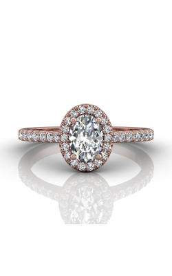 Martin Flyer Micropave Halo Engagement ring DERMH4XSOVPZ-D-7X5OV product image