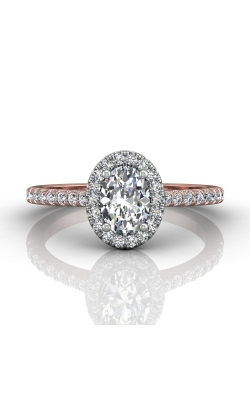 Martin Flyer Micropave Halo Engagement ring DERMH4XSOVTTPZ-F-7X5OV product image