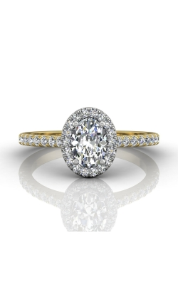 Martin Flyer Micropave Halo Engagement ring DERMH4XSOVTTYZ-F-7X5OV product image