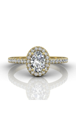 Martin Flyer Micropave Halo Engagement ring DERMH4XSOVYZ-F-7X5OV product image