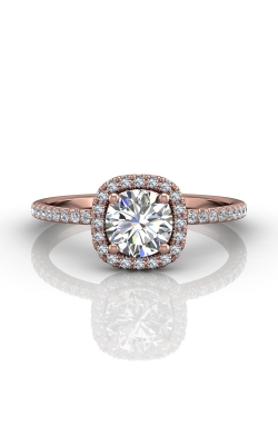 Martin Flyer Micropave Halo Engagement ring DERMH59XXSRPQ-C-6.0RD product image