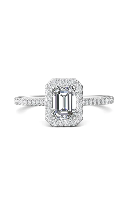 Martin Flyer Micropave Halo Engagement Ring DERMH7XSECPL-C-7X5EC product image