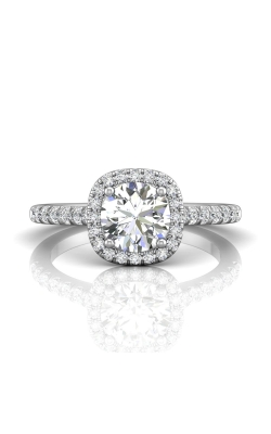Martin Flyer Micropave Halo Engagement ring DERMH7CUPL-F-6.5RD product image