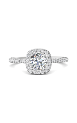 Martin Flyer Micropave Halo Engagement ring DERMH7XSCUPL-C-6.0RD product image