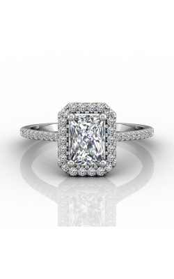 Martin Flyer Micropave Halo Engagement ring DERMH7XSECPL-D-7X5EC product image