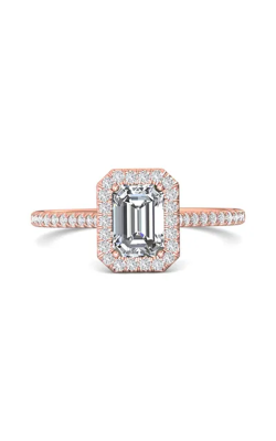 Martin Flyer Micropave Halo Engagement ring DERMH7XSECPQ-C-7X5EC product image
