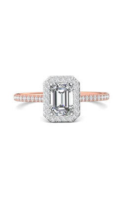 Martin Flyer Micropave Halo Engagement ring DERMH7XSECTTPQ-D-7X5EC product image