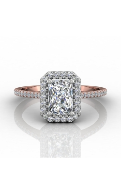 Martin Flyer Micropave Halo Engagement ring DERMH7XSECTTPQ-F-7X5EC product image