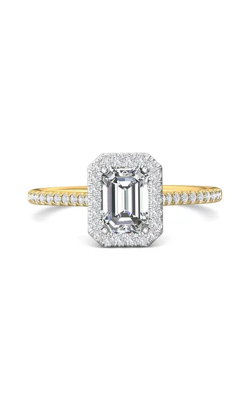 Martin Flyer Micropave Halo Engagement ring DERMH7XSECTTYQ-F-7X5EC product image