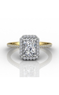 Martin Flyer Micropave Halo Engagement ring DERMH7XSECTTYZ-D-7X5EC product image