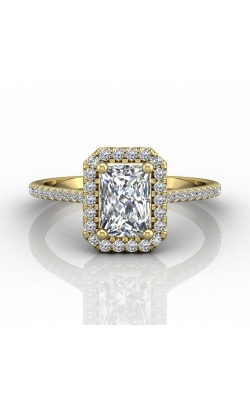 Martin Flyer Micropave Halo Engagement ring DERMH7XSECYQ-D-7X5EC product image