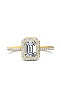 Martin Flyer Micropave Halo Engagement ring DERMH7XSECYQ-F-7X5EC product image