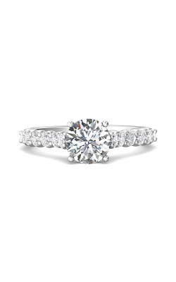 Martin Flyer Channel & Shared Prong Engagement Ring DERSP03SQ-F-7.0RD product image
