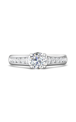 Martin Flyer FlyerFit Channel & Shared Prong Engagement Ring DERC01XSQ-F-6.0RD product image