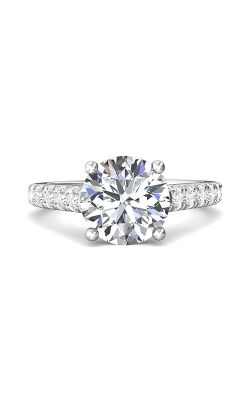Martin Flyer Micropave Engagement Ring DERM34SQ-F-10.0RD product image