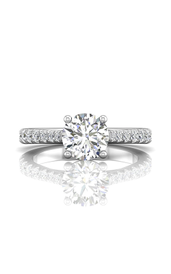 Martin Flyer Micropave Engagement Ring DERM80SQ-F-7.5RD product image