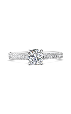 Martin Flyer Micropave Engagement Ring DERM6XSQ-F-6.0RD product image