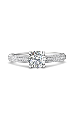 Martin Flyer Micropave Engagement Ring DERM19XSQ-F-6.5RD product image