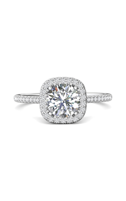 Martin Flyer Flyer Fit Micropave Halo Engagement Ring DERMH54RCUQ-F-7.0RD product image