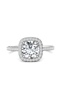 Martin Flyer Micropave Halo Engagement Ring DERMH30CUQ-F-7.5RD product image