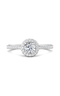 Martin Flyer Micropave Halo Engagement Ring DERMH4XXSQ-F-5.0RD product image