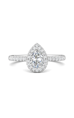 Martin Flyer Micropave Halo Engagement Ring DERMH7PSRQ-F-7.5X5.0PS product image