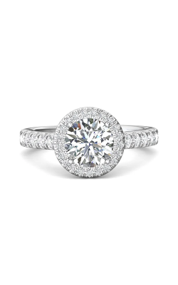 Martin Flyer Micropave Halo Engagement Ring DERMH20RDQ-F-7.5RD product image