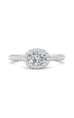 Martin Flyer Flyer Fit Micropave Halo Engagement Ring DERMH76ROVQ-F-7X5OV product image