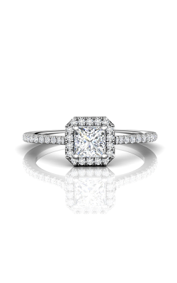 Martin Flyer Flyer Fit Micropave Halo Engagement Ring DERMH4XXSACQ-F-4.5PC product image