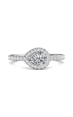 Martin Flyer Flyer Fit Micropave Halo Engagement Ring DERMH76PSQ-F-7X5PS product image
