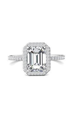 Martin Flyer Flyer Fit Micropave Halo Engagement Ring DERMH59XXSRECQ-F-9X7EC product image