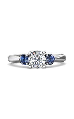 Martin Flyer Three Stone Engagement Ring DERT02SRAQ-F-6.5RD product image
