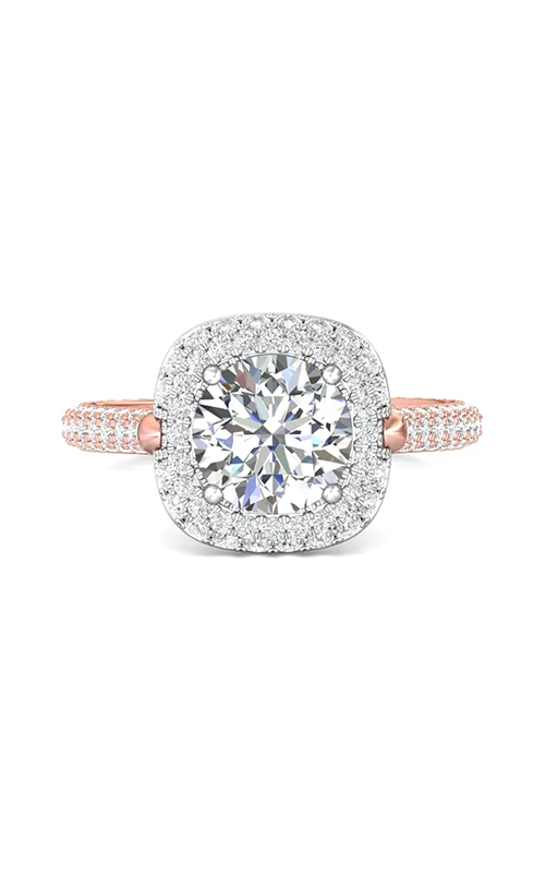 Martin Flyer Micropave Halo Engagement ring 5211SCUETTPZ-C-7.5RD product image