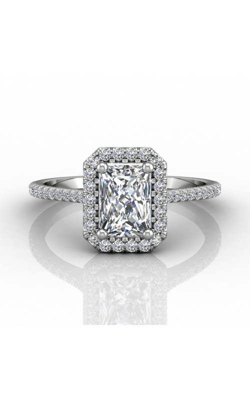 Martin Flyer Micropave Halo Engagement ring DERMH7XSECZ-F-7X5EC product image