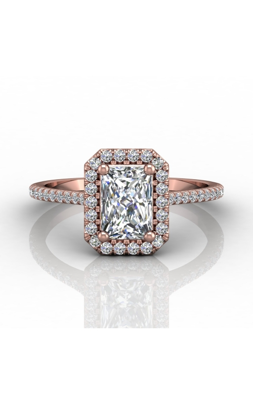 Martin Flyer Micropave Halo Engagement ring DERMH7XSECPQ-F-7X5EC product image