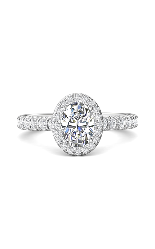 Martin Flyer Flyer Fit Micropave Halo Engagement Ring DERMH4SOVQ-F-8X6OV product image