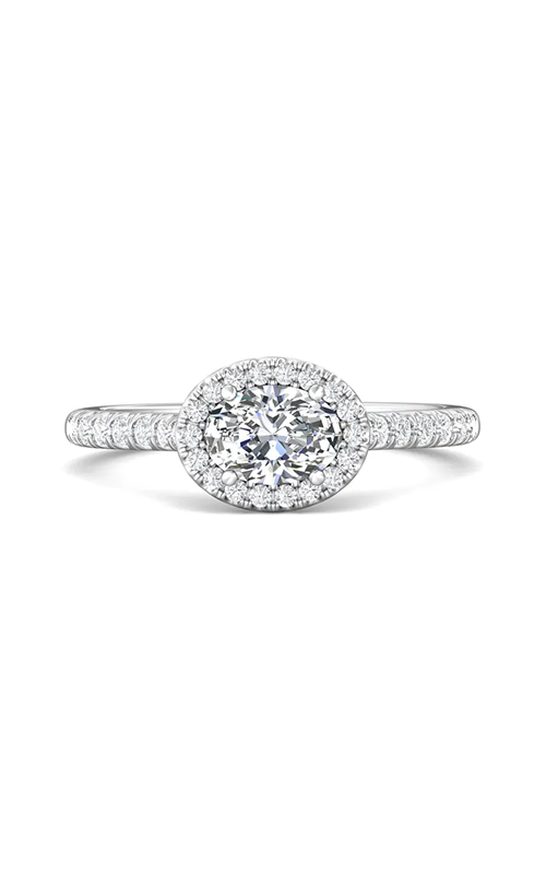 Martin Flyer Micropave Halo Engagement ring DERMH76ROVQ-F-7X5OV product image