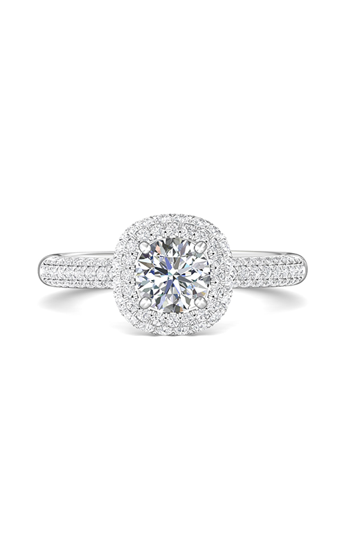 Martin Flyer Flyer Fit Micropave Halo Engagement Ring DERMH6XSQ-F-6.0RD product image