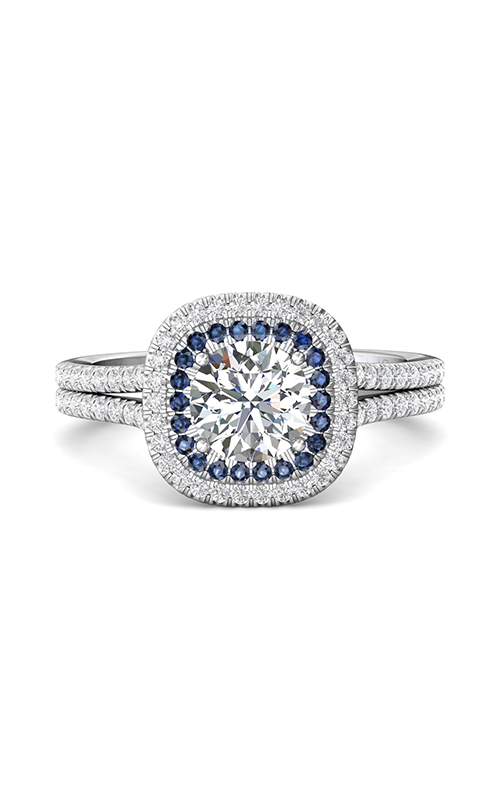 Martin Flyer Flyer Fit Micropave Halo Engagement Ring DERMH53XSCUADBLQ-F-6.5RD product image