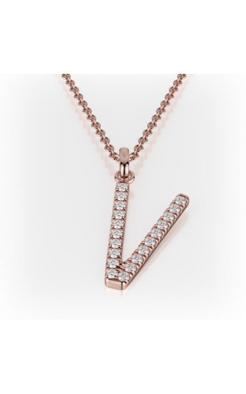 Michael M Necklaces Necklace LETTER V product image