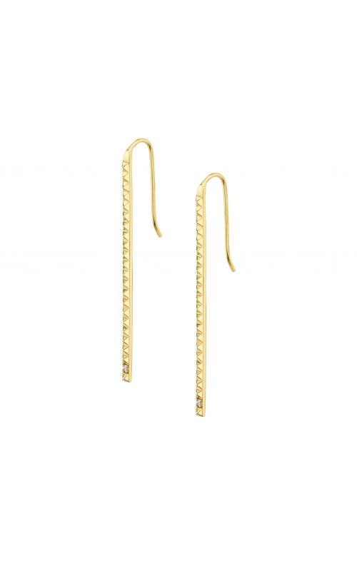 Michael M Tetra Single Stone Foundation Bar Earrings ER369 product image