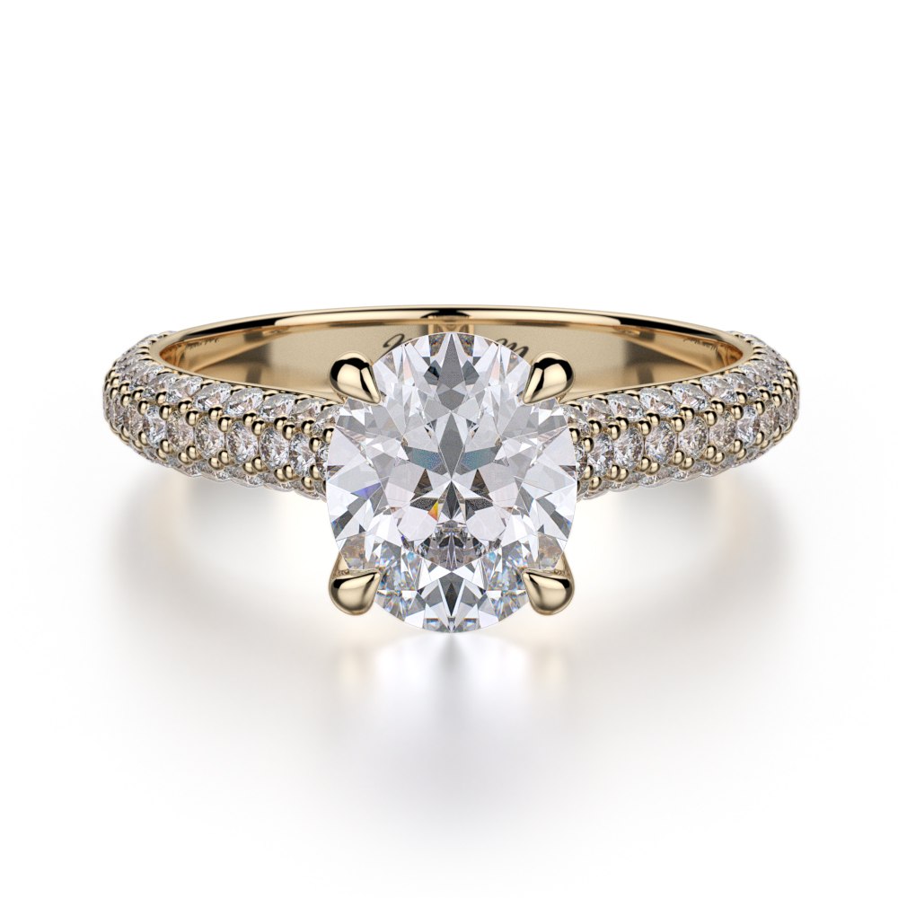 Michael M Crown Engagement ring R708-2 product image