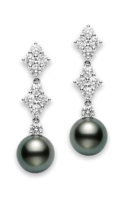 Mikimoto Classic Elegance Black South Sea Long Earrings PEA 1049BD W product image