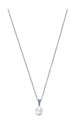 Mikimoto Morning Dew White South Sea With Blue Sapphire Pendant Ppa404nsw product image