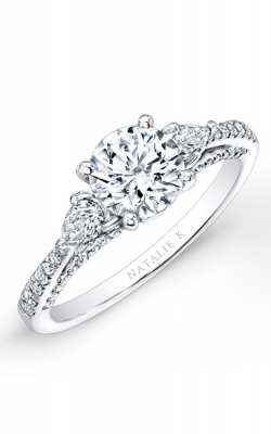 Natalie K Trois Diamants Collection Engagement Ring NK26627-W product image