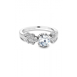 Noam Carver Floral Engagement Ring B063-01WM product image