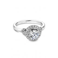 Noam Carver Floral Engagement Ring B072-01WM product image