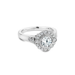 Noam Carver Floral Engagement ring B091-01WM product image