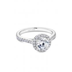 Noam Carver Halo Engagement ring R050-01WM product image